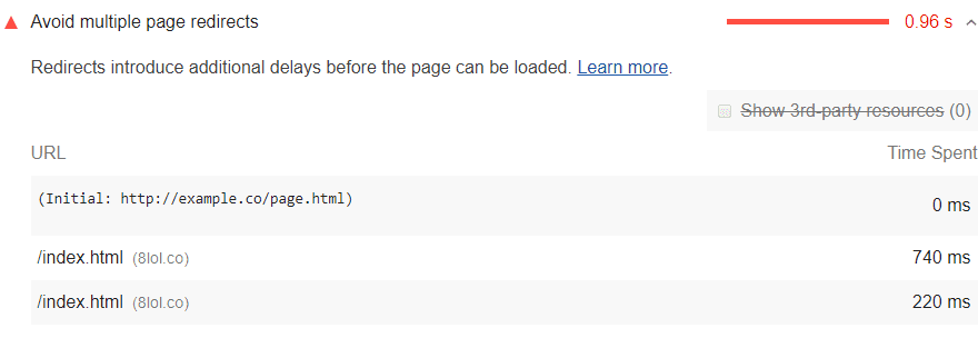 Too Many Page Redirects