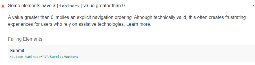 [tabindex] value greater than 0