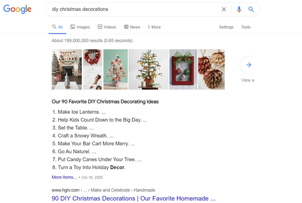 Featured Snippets - DIY
