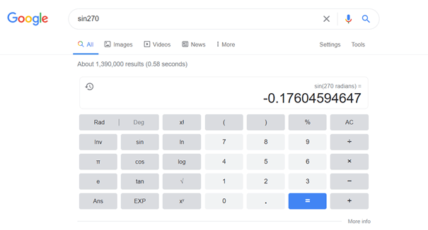 Queries with featured snippets related to math