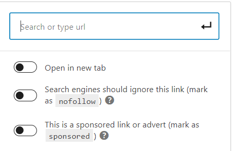How to create nofollow or sponsored links on WordPress