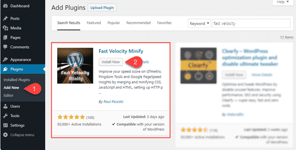 Fast Velocity Minify - Solve the Unminified CSS