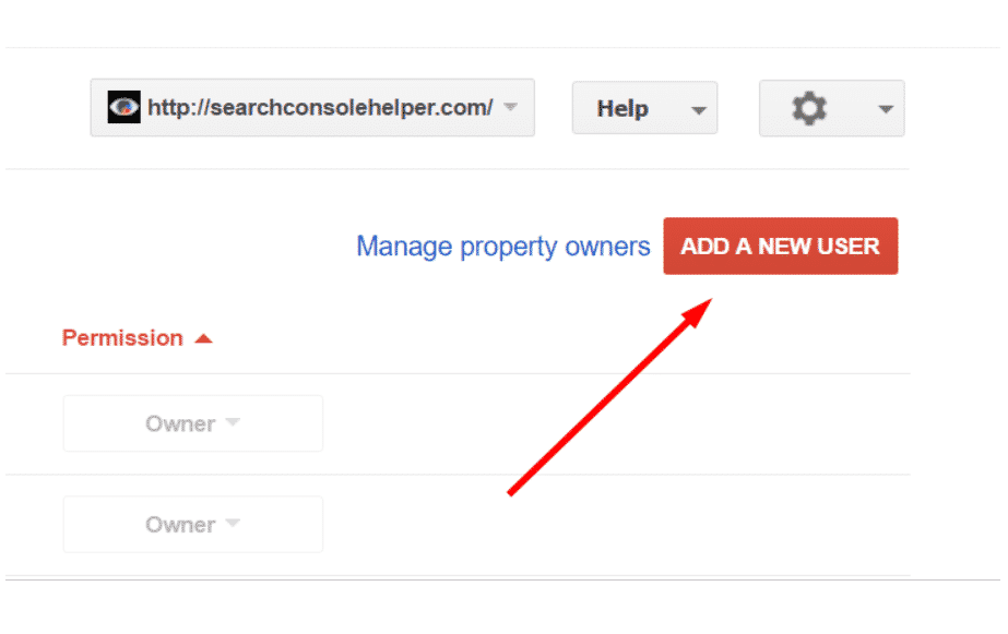 How to set up site owners and permissions on Google Search Console?