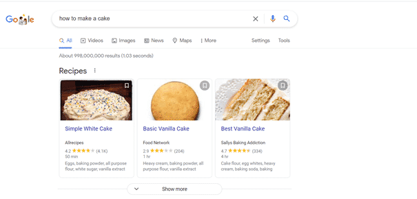 Featured snippets for organic traffic gaining